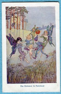 Hilda T. Miller postcard ''The Entrance to Fairyland''   eBay