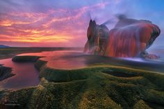 Fly Geyser, USA http://brightside.me/wonder-places/20-utterly-otherworldly-landscapes-that-can-be-found-on-earth-110505/