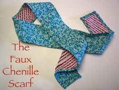 Tutorial: Faux Chenille Scarf · Sewing | CraftGossip.com