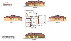 To Be Build at Chebeng (Limpopo) Round House Plans, Square House Plans, House Plans For Sale, Metal House Plans, Modern House Floor Plans, Free House Plans, House Layout Plans, Garage House Plans, Family House Plans