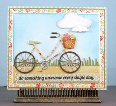 memory box bicycle die | This Little Card of Mine: Do Something Amazing Bicycle Die card