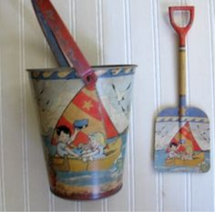 Vintage Bucket- this type bucket had easter things in them instead of a basket some years.