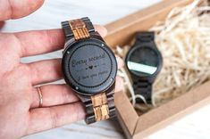 Mens watch Wooden watch Engraved watch men Personalized watch Stylish ornament case Personalized gift for men Husband gift by BigLemur Gifts For Boyfriend Long Distance, Gifts For My Boyfriend, Gifts For Husband, 5 Year Anniversary Gift, Boyfriend Anniversary Gifts, Personalised Gifts For Him, Engraved Gifts, Mens Valentines Gifts, Watch Engraving