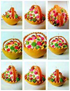Melon fruit salad candle Fruit Salad, Candles, Bar, Desserts, Food, Saying Goodbye, Tailgate Desserts, Fruit Salads, Deserts