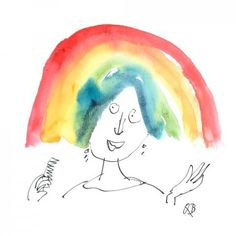 Send a Quentin Blake E-Card Quentin Blake Illustrations, Rainbow Theme, House Illustration, Its Nice That, E Cards, Trees To Plant, Illustrators, First Love, How To Draw Hands