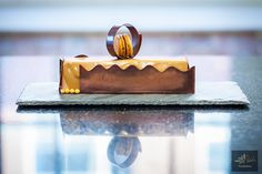 Bahibe Milk chocolate mousse, exotic fruit gelee, hazelnut cake during Pastry Chef Antonio Bachour's class at L'Ecole Valrhona Brooklyn!