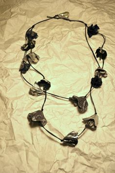 handmade leather necklace with buds