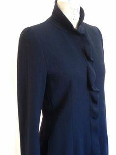 Giorgio Armani Vintage Long Jacket Suit Black Sz 42 | eBay  #designer #designerClothing #giorgioArmani #armani #italia #italy #milan #milano #italianFashion