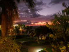 Sunset at the Holiday Inn Sunspree in Montego Bay, Jamaica