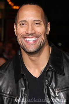 He has the prettiest smile (Dwayne Johnson).