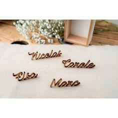 Mariage Siège Place Names Nom Lieu cartes personnalisé en bois découpé au laser des noms