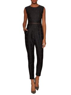 Piper Lace Sleeveless Jumpsuit by Marna Ro at Gilt