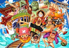 I'm one of the biggest fans of One Piece!!!!! I haven't finished watching it yet but Meh! Usopp Rules!!!!! One Piece is about a boy who wants to be king of the pirates, and that means he has to get the One Piece hidden in the grand line. He meets a people to join his crew and fights lots of fights on the way. He has to beat Whitebeard, Blackbeard and Red Hair Shanks  who are the 3 closest pirates to the One Piece.