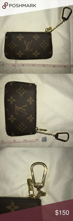Louie Vuitton Key Pouch AUTHENTIC LV key pouch. Monogrammed canvas, gold zipper and detail. Used for 2 month as a DL holder. In EXCELLENT condition. Love this beauty but I NEVER use it. Time for the next home. Louis Vuitton Accessories Key & Card Holders