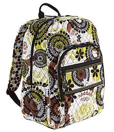 Vera Bradley Campus Backpack in Cocoa Moss