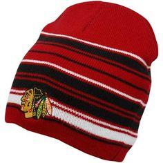 Old Time Hockey Chicago Blackhawks Red-Black Marrow Net Uncuffed Knit Beanie