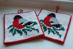 Tapestry Crochet, Knit Crochet, Christmas Carol, Christmas Diy, Knit Patterns, Embroidery Patterns, Crochet Potholders, Holidays And Events, Cross Stitch Embroidery