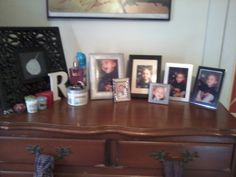 The top of RC's dresser at her dad's house