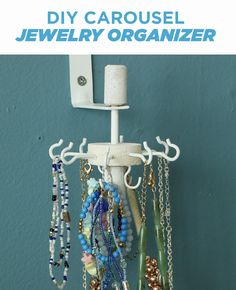 Keep jewelry untangled with this smart DIY organizer.
