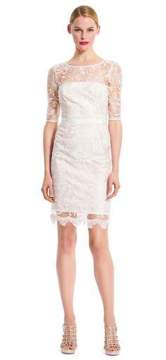 Adrianna Papell | Illusion Lace Sheath Dress