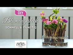 DIY: frühlingshafte Blumendeko schnell & günstig [How to]   Deko Kitchen - YouTube