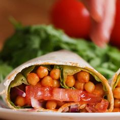 Buffalo Chickpea Wraps Recipe by Tasty