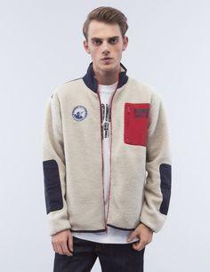 Billionaire Boys Club Sherpa Fleece Zip Through Jacket