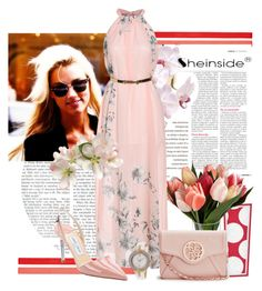 """""""pink dress"""" by rvazquez ❤ liked on Polyvore"""