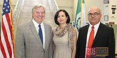 Share this: Texas Border Business Harlingen Mayor Chris Boswell, Matamoros Mayor Pro Tem Alma Bertha Garcia Betancourt and Consul de Mexico Rodolfo