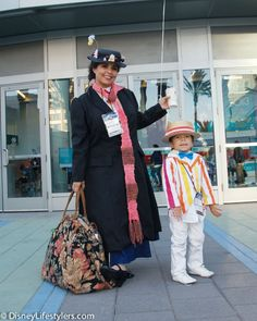 Mary Poppins and Bert from the movie Mary Poppins, Disney Cosplay at Disney D23 Expo 2013