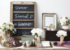 Love this for a shower where guests just bring a glamour gift.  May be great if the bride has multiple bridal showers.      An Eco-Chic Bridal Shower - The Bride's Guide : Martha Stewart Weddings