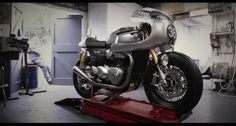 Triumph Thruxton R Cafe Racer by Down & Out Cafe Racers #motorcycles #caferacer #motos | caferacerpasion.com