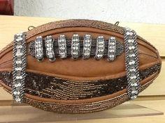 MARY FRANCES TOUCHDOWN FOOTBALL HANDBAG PURSE NWT #MARYFRANCES #EveningBag Mary Frances Handbags, Evening Bags, Designer Handbags, Bag Accessories, Purses, Clutches, Designers, Football, Ebay