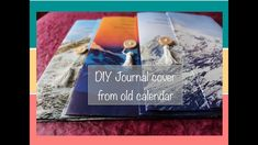 Upcycling old calendar - DIY Journal Covers from old calendar - YouTube