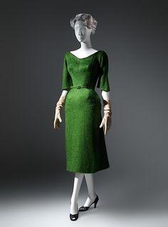 Dress Designer: Charles James (American, born Great Britain, 1906–1978) Manufacturer: (sample made for) Samuel Winston Date: 1952–53 Culture: American Medium: wool
