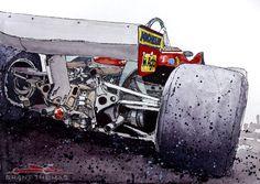 "Ferrari 312 T5 ""Gilles Ride"" by ferrariartist"