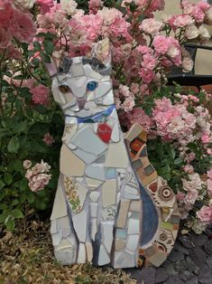 Cat Mosaic Garden Art Pet Portrait Pet Memorial | Etsy Fish Wall Art, Mosaic Wall Art, Mirror Mosaic, Fish Art, Mosaic Crafts, Mosaic Projects, Mosaic Ideas, Mosaic Designs, Mosaic Garden Art