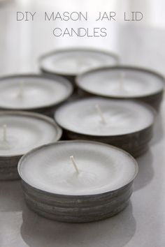 DIY Mason Jar Lid Candles