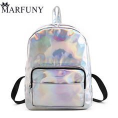 611fc3f23640 Fashion Hologram Laser Backpack Luxury Women Backpack Hot Backpacks For  Teenage Girls Silver Women Bag High Quality Mochila