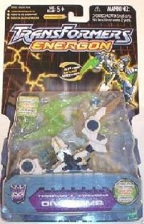 Takara-Hasbro Transformers Basic Class: Energon Divebomb, Decepticon Terrorcon - new sealed on card. Transformers Energon, Hasbro Transformers, Shattered Glass, Blade, Action Figures, Statues, Classic, Cart, Ships