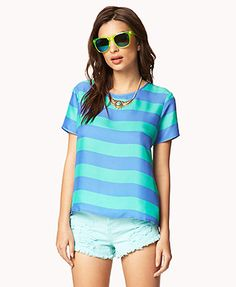 Striped Satin Top | FOREVER21 - 2035079667