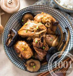 Простая курица с грибами