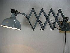 Original RADEMACHER Scherenlampe Werkstattlampe Wandlampe Bauhaus Industrial