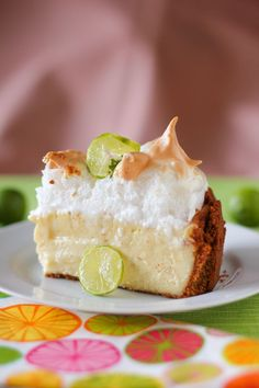 Key Lime Pie Cheesecake with Sky-High Meringue by Willow Bird Baking ~ Oh, yes please! #keylime #dessert #recipe