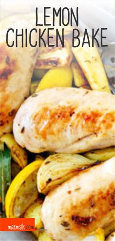 Lemon Chicken Bake Recipe Vegan Recipes Easy, Healthy Dinner Recipes, Baked Chicken Recipes, Lemon Chicken, Easy Meals, Boards, Baking, Food, Easy Vegan Recipes