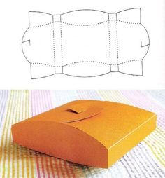 Pillow-type Gift Box template