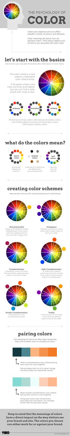 VIEO's Melanie Chandler made this great infographic to help you use color like a pro in your designs!