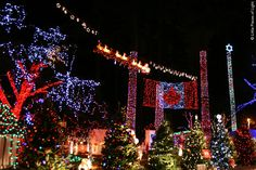 Vancouver Christmas Lights at Stanley Park -- Vancouver, British Columbia, Canada.