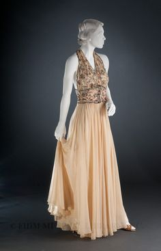 Vionnet evening gown, 1936-1938