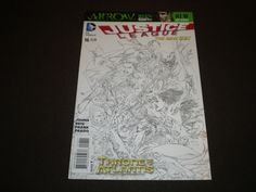 Justice League 16,  2013, (1:100) B& W Sketch Variant, DC Comics
